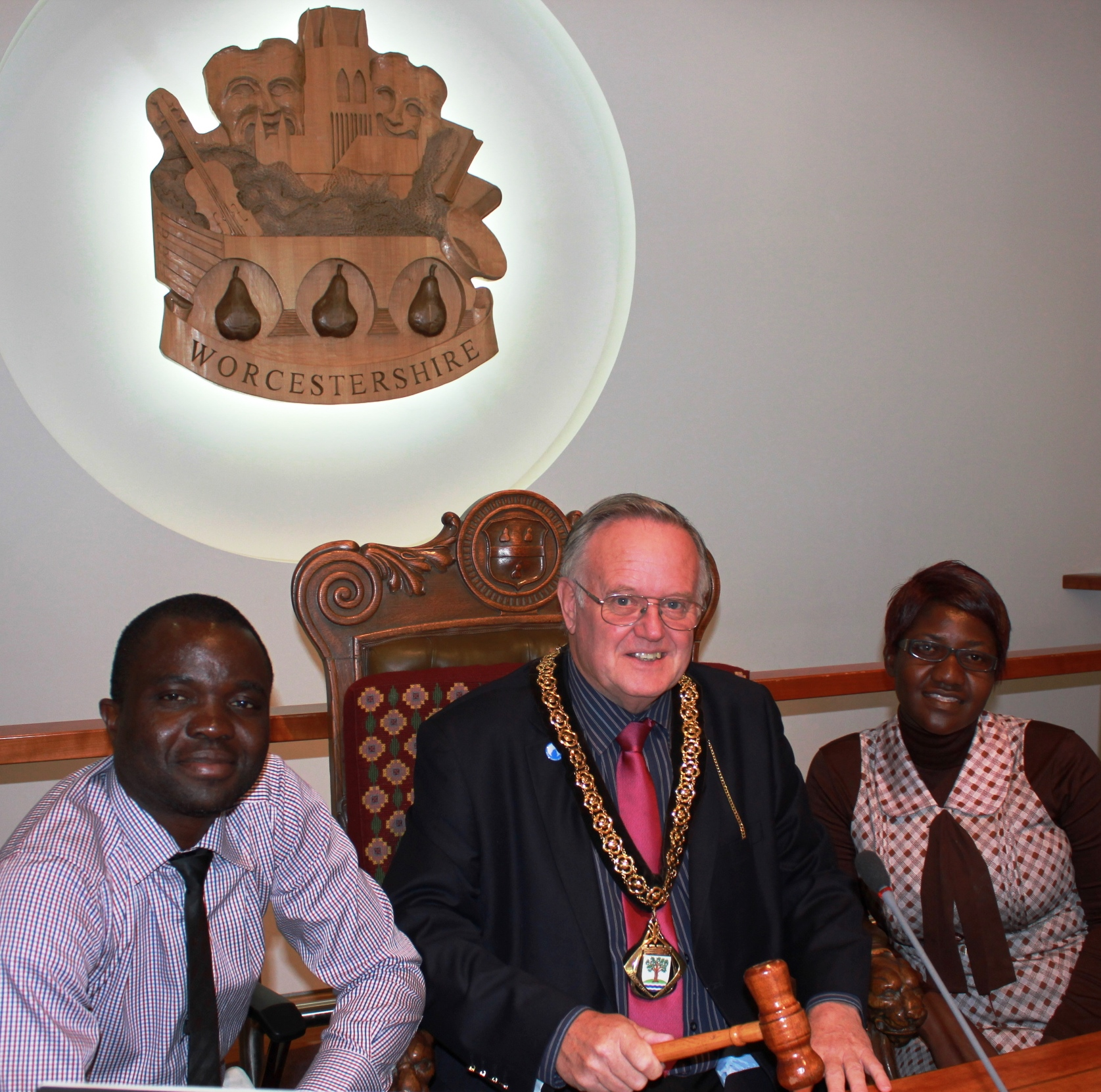 Two teachers from Zambia learned all about the inner workings of local government from Worcestershire County Council Chairman Ian Hopwood while on an exchange visit to Pershore High School.