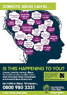 Coercive and controlling head poster