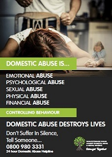 Domestic abuse is poster