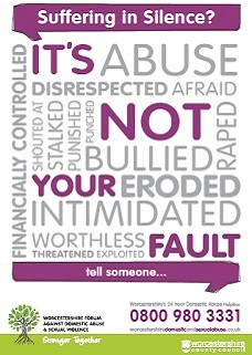 Domestic abuse it is not your fault poster