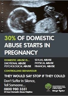 Domestic abuse pregnancy poster