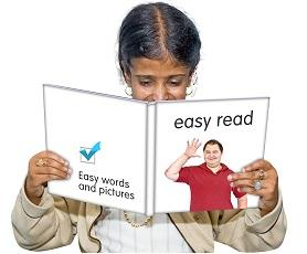 An image of a lady reading a book