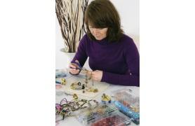 Image of woman making jewellery