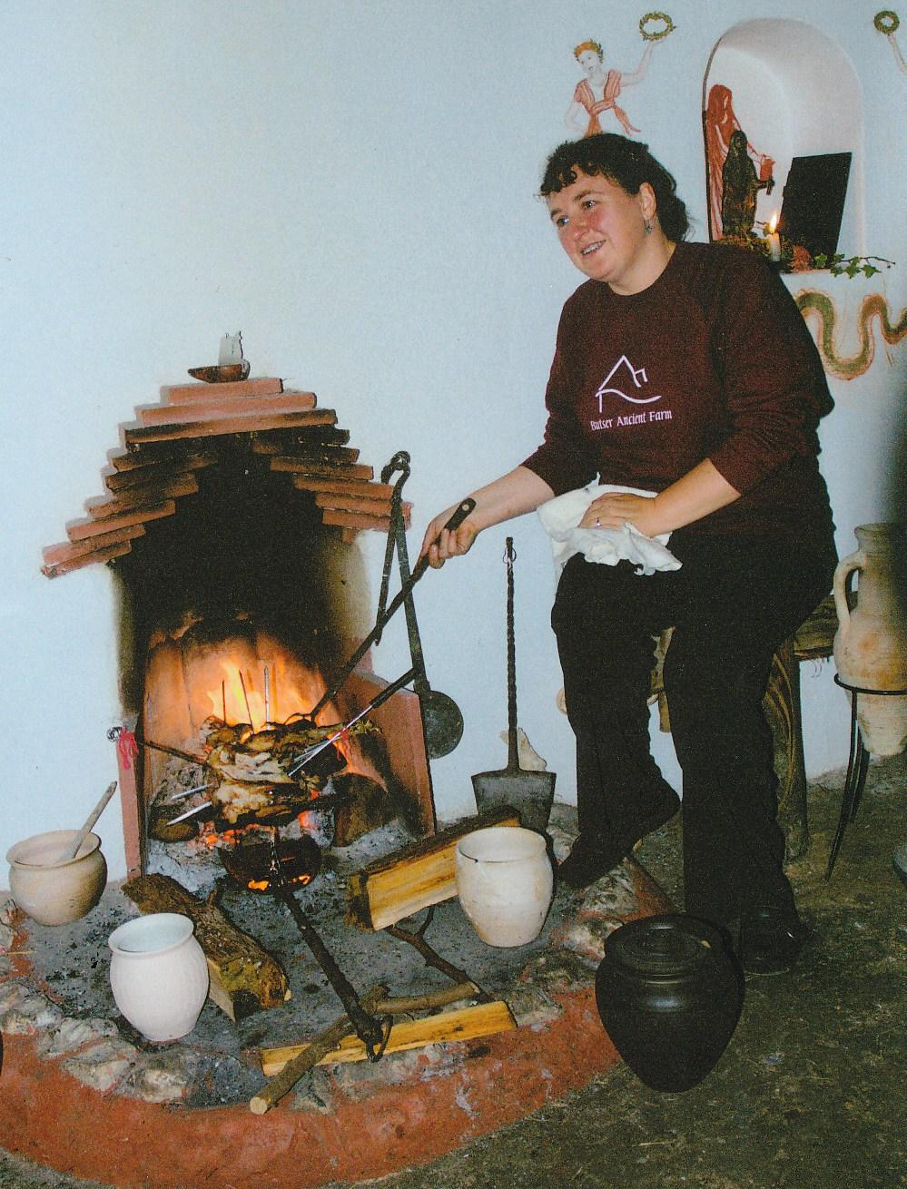 An example of Roman food being cooked Credit: Sally Grainger