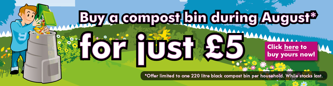 Compost bins for £5 during August 2018
