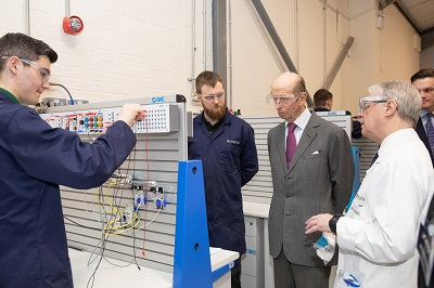HRH The Duke of Kent visits Midland Group Training Services