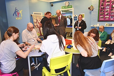 HRH The Duke of Kent visits Kidderminster & District Youth Trust