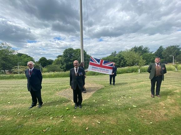 Flag raised at County Hall to mark Armed Forces Week