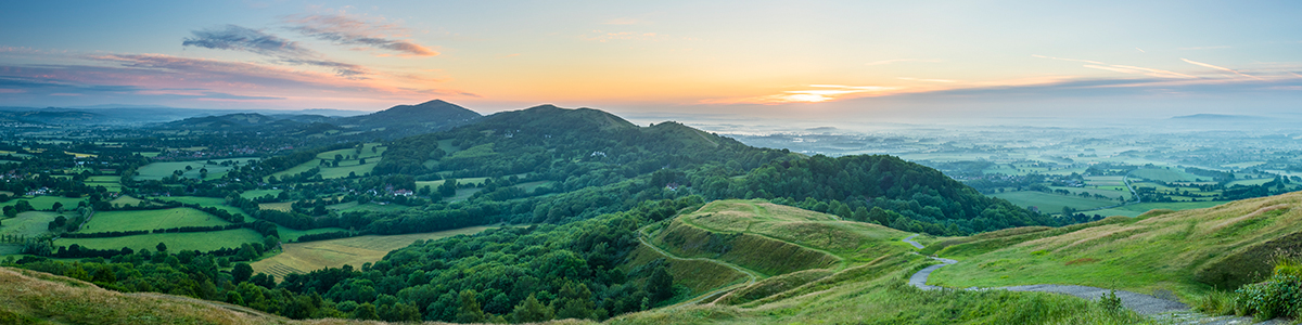 An image of the Malvern Hills