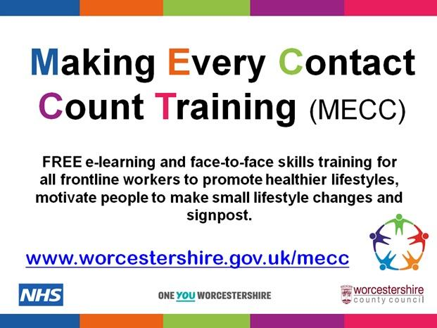 Making Every Contact Count (MECC)… the new 'health chats' programme