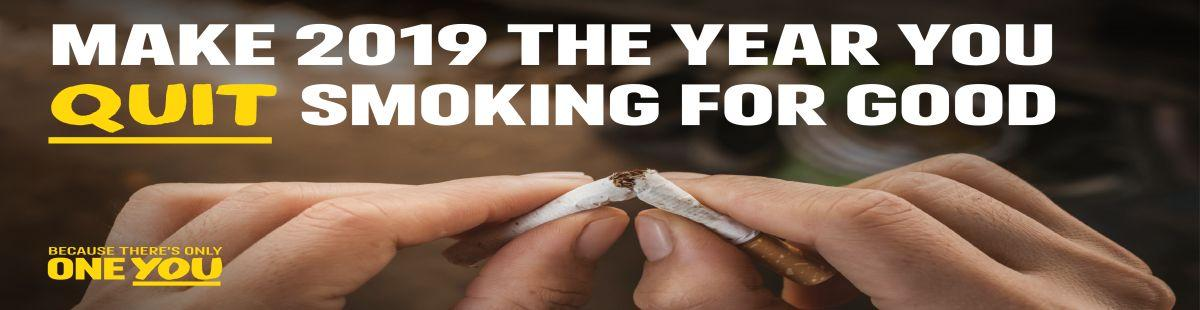 Make 2019 the year quit smoking for good.
