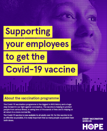 Support employees to get covid 19 vaccination