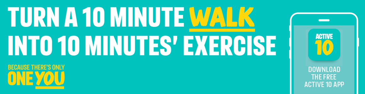Turn a 10 minute walk into 10 minutes exercise.